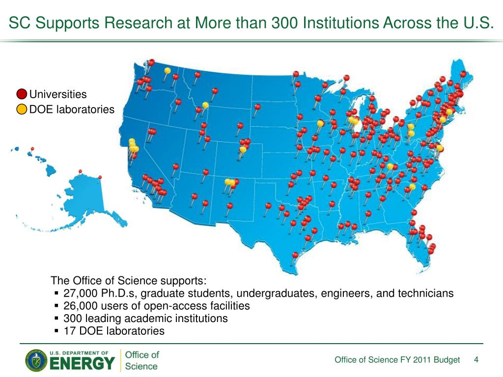 SC Supports Research at More than 300 Institutions Across the U.S.