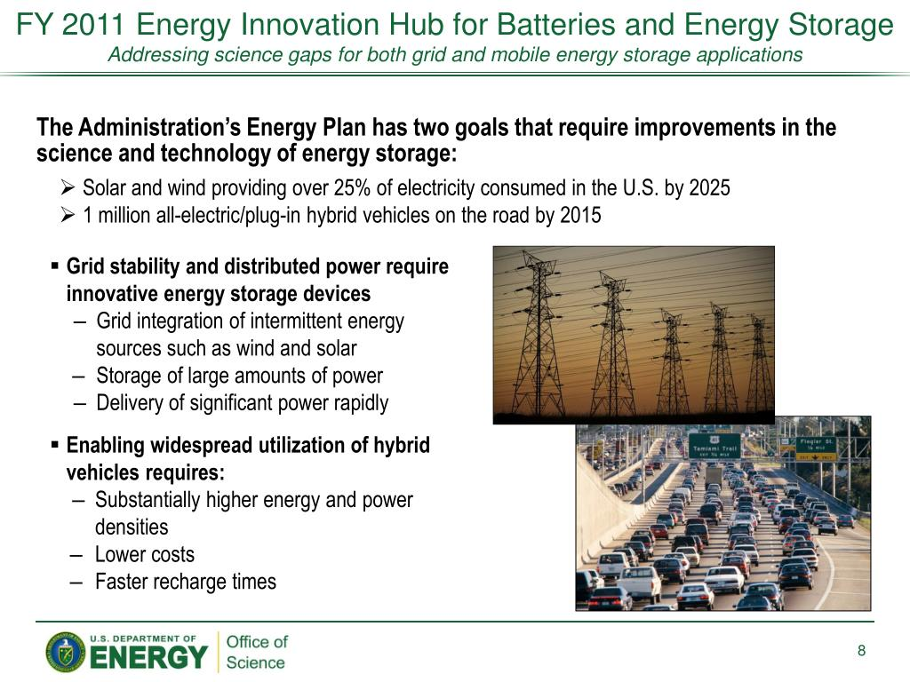 FY 2011 Energy Innovation Hub for Batteries and Energy Storage