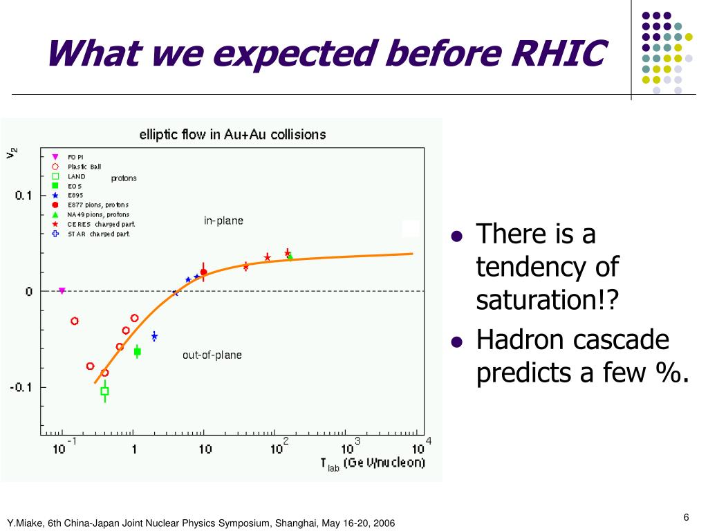 What we expected before RHIC