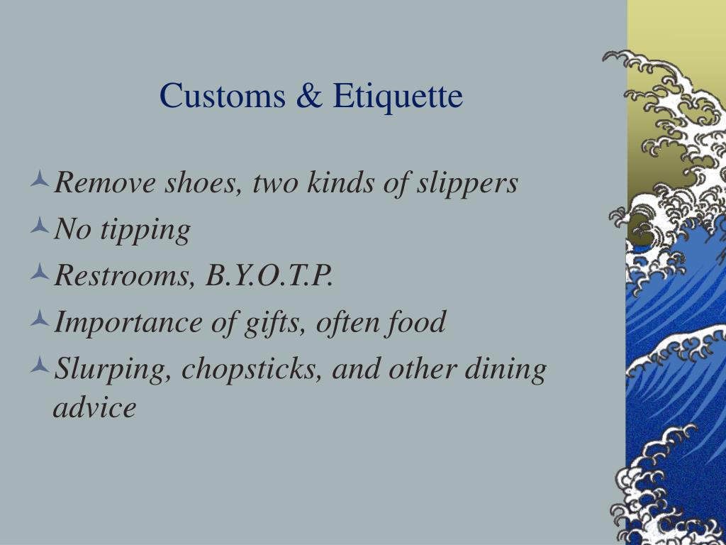 Customs & Etiquette