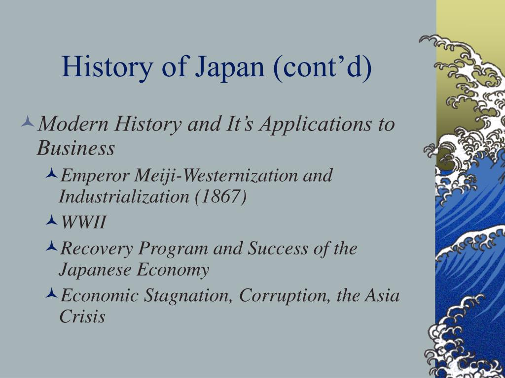 History of Japan (cont'd)
