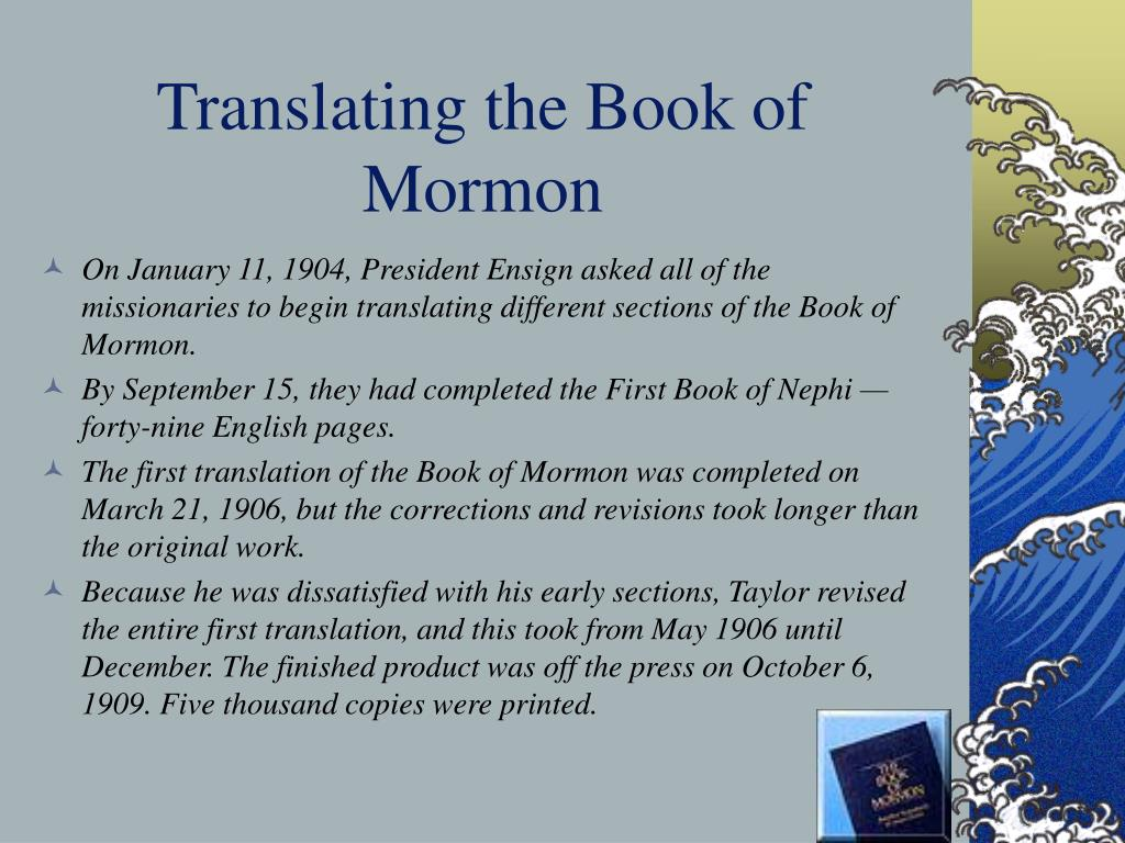 Translating the Book of Mormon