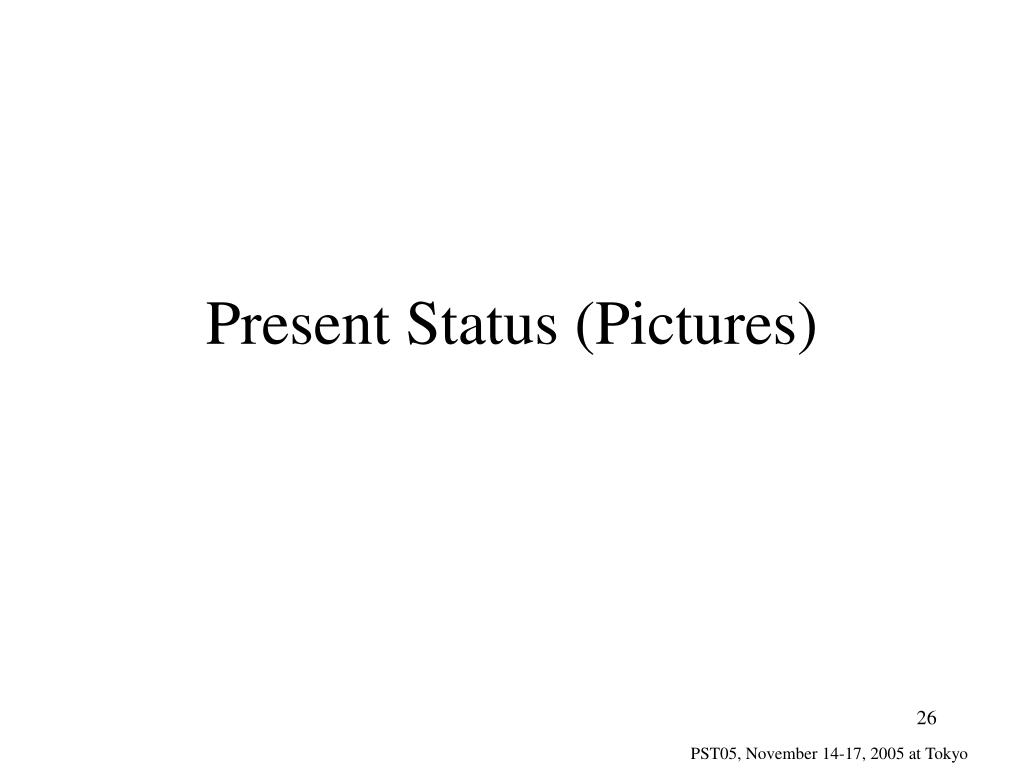 Present Status (Pictures)