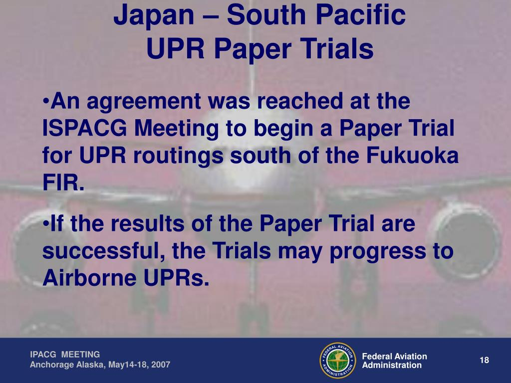 Japan – South Pacific