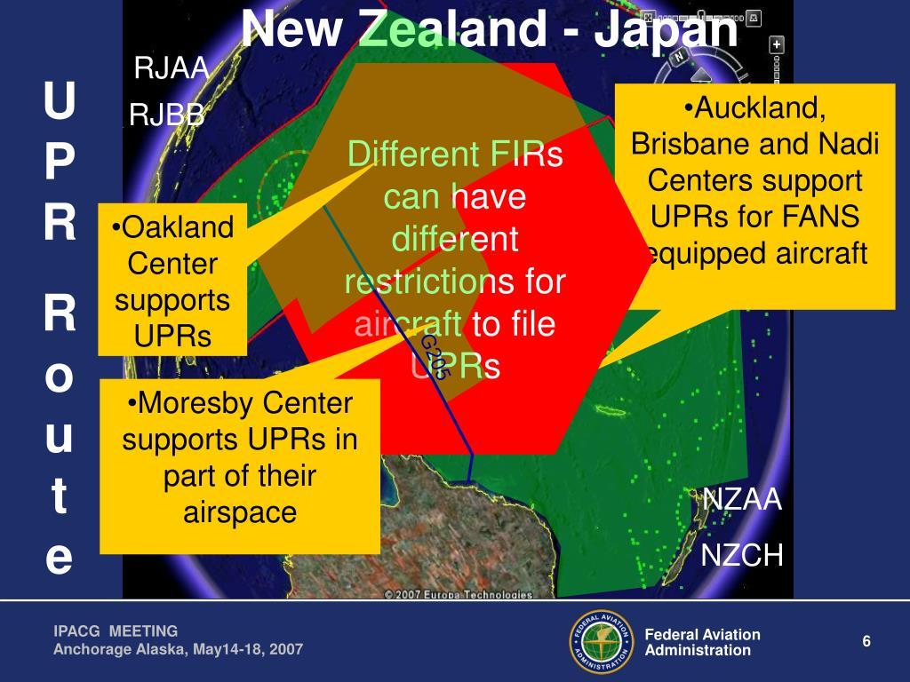 New Zealand - Japan