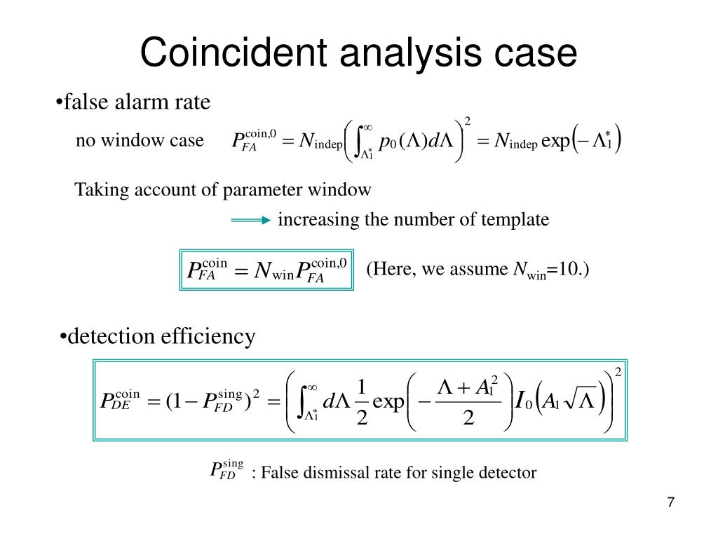 Coincident analysis case