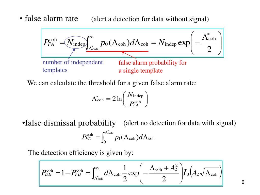 false alarm rate