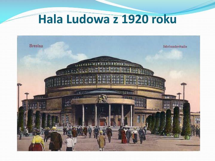 Hala Ludowa z 1920 roku