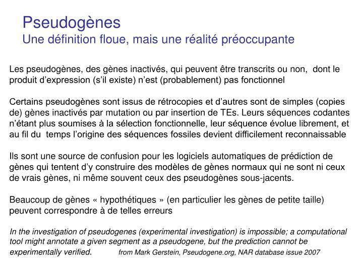 Pseudogènes