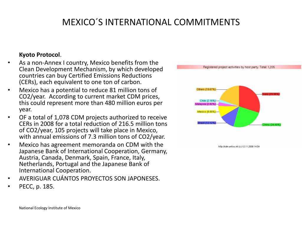 MEXICO´S INTERNATIONAL COMMITMENTS