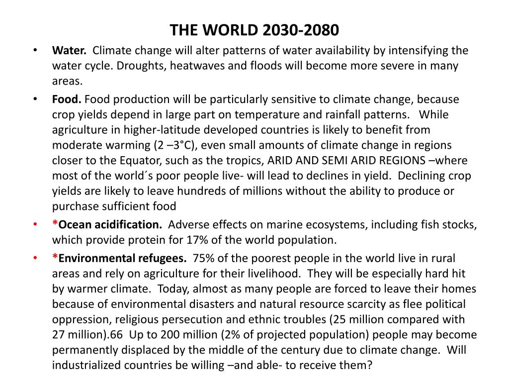 THE WORLD 2030-2080