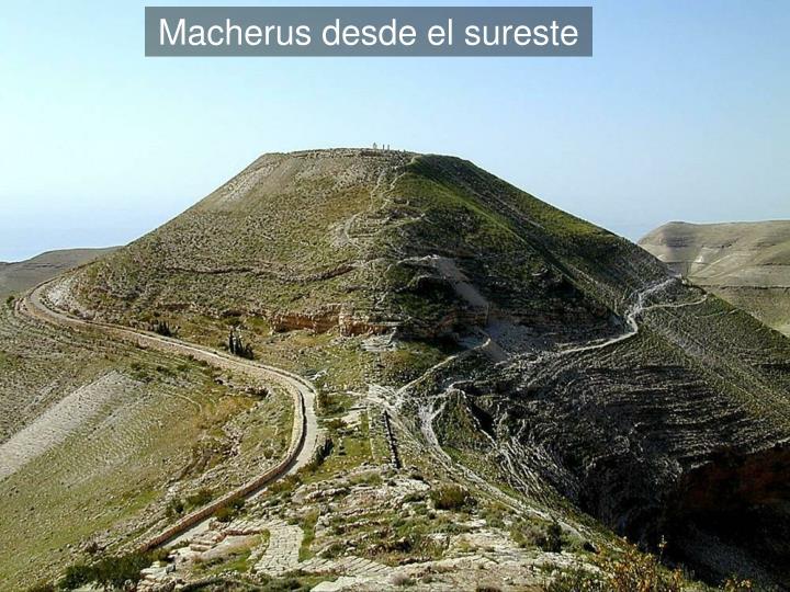 Macherus from southeast