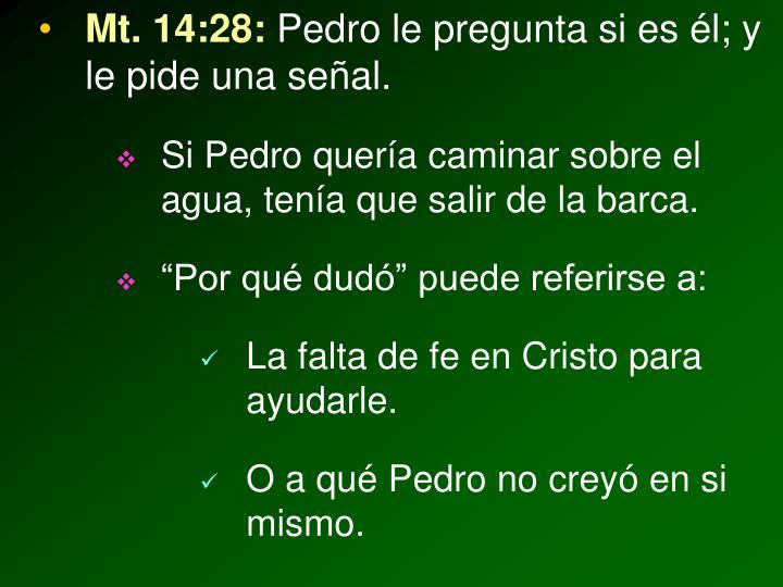 Mt. 14:28: