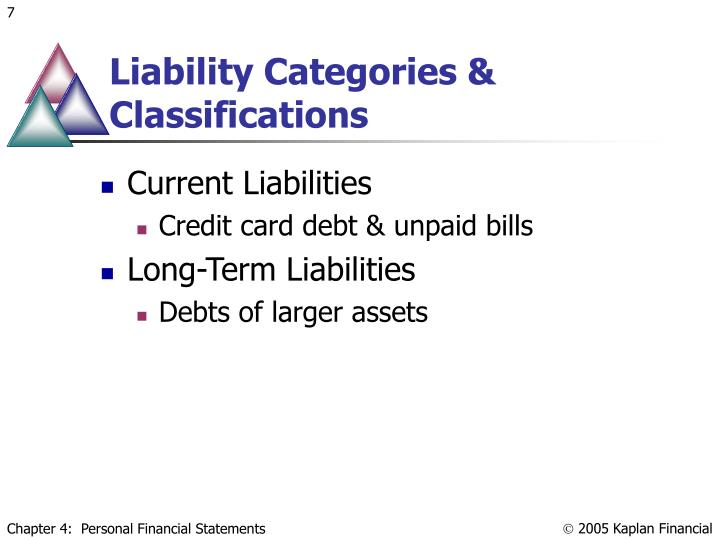 Liability Categories & Classifications