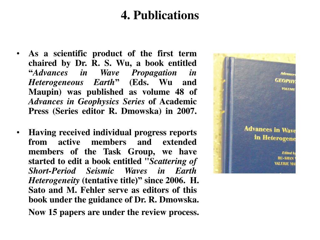 4. Publications