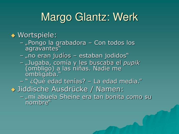 Margo Glantz: Werk