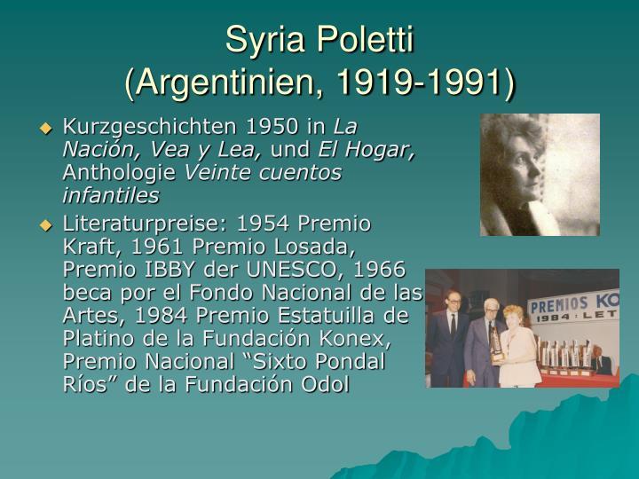 Syria Poletti