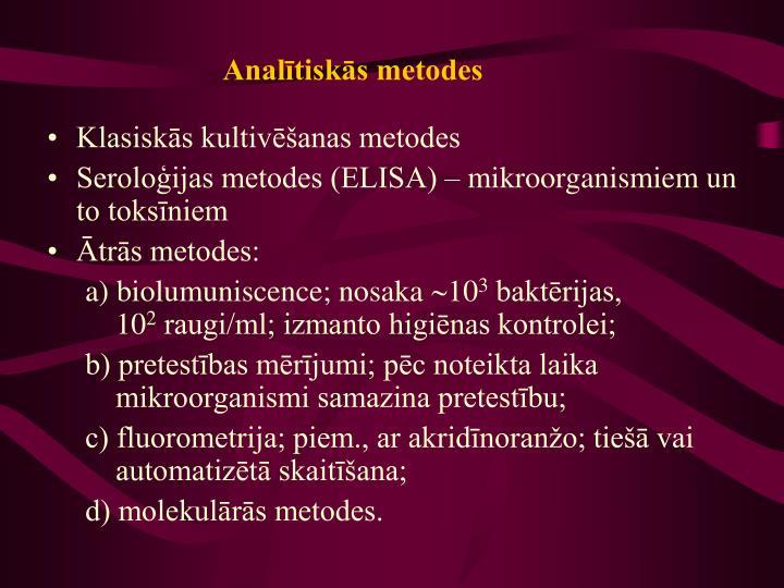 Analītiskās metodes