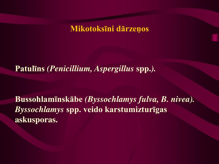 Mikotoksīni dārzeņos