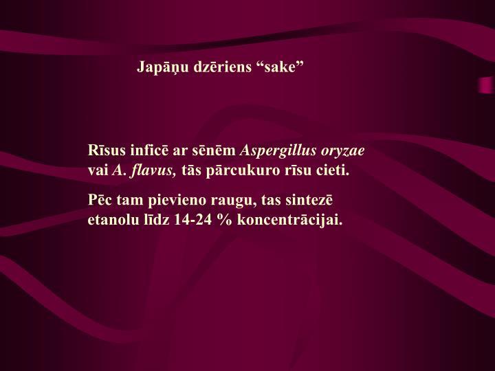 """Japāņu dzēriens """"sake"""""""