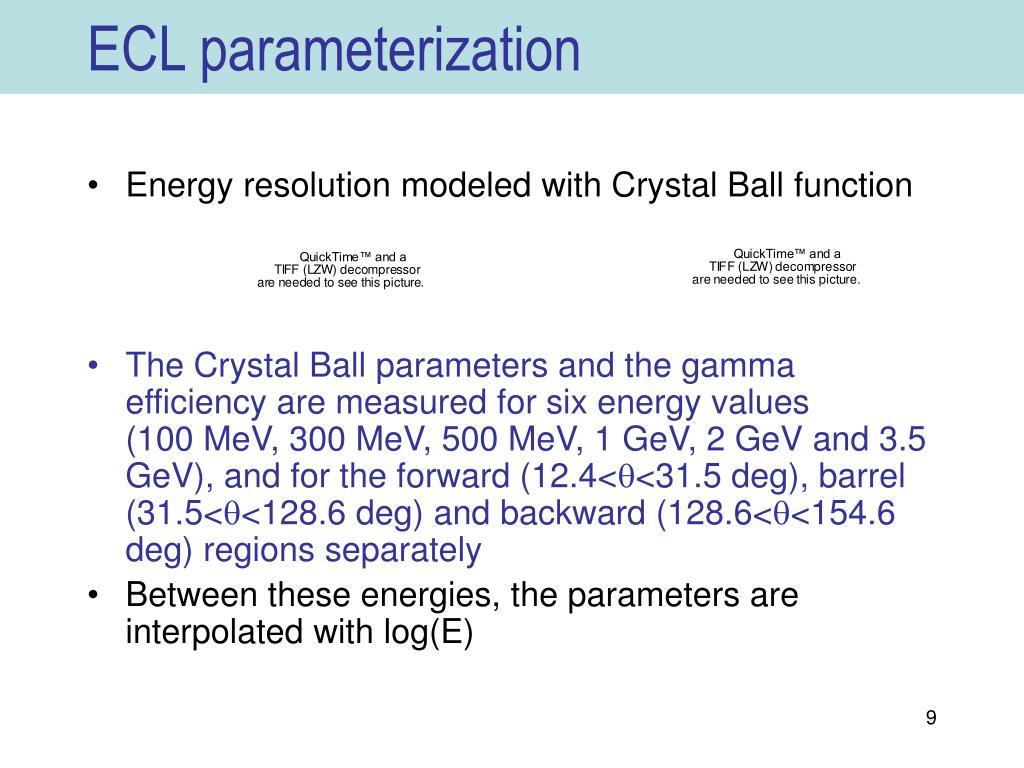 ECL parameterization