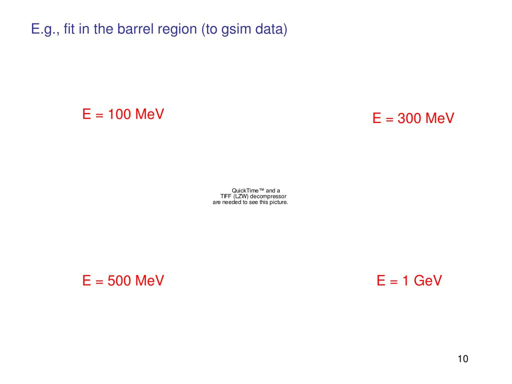 E.g., fit in the barrel region (to gsim data)