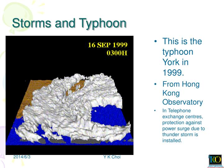 Storms and Typhoon