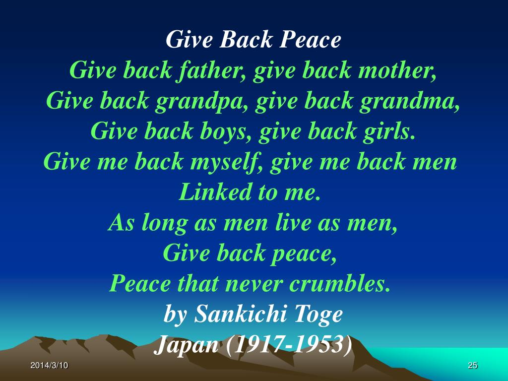 Give Back Peace