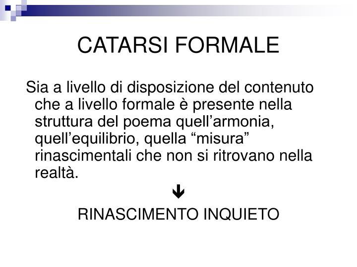 CATARSI FORMALE