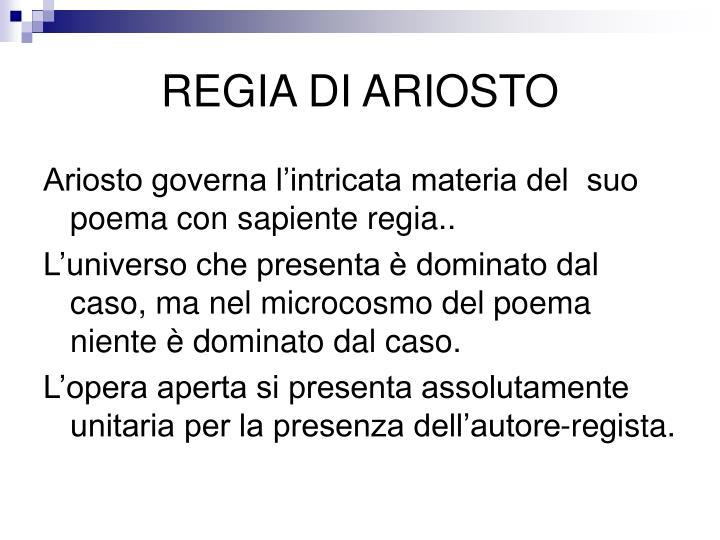 REGIA DI ARIOSTO
