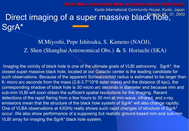 """Stellar-Mass, Intermediate-Mass, and Supermassive Black Holes"""