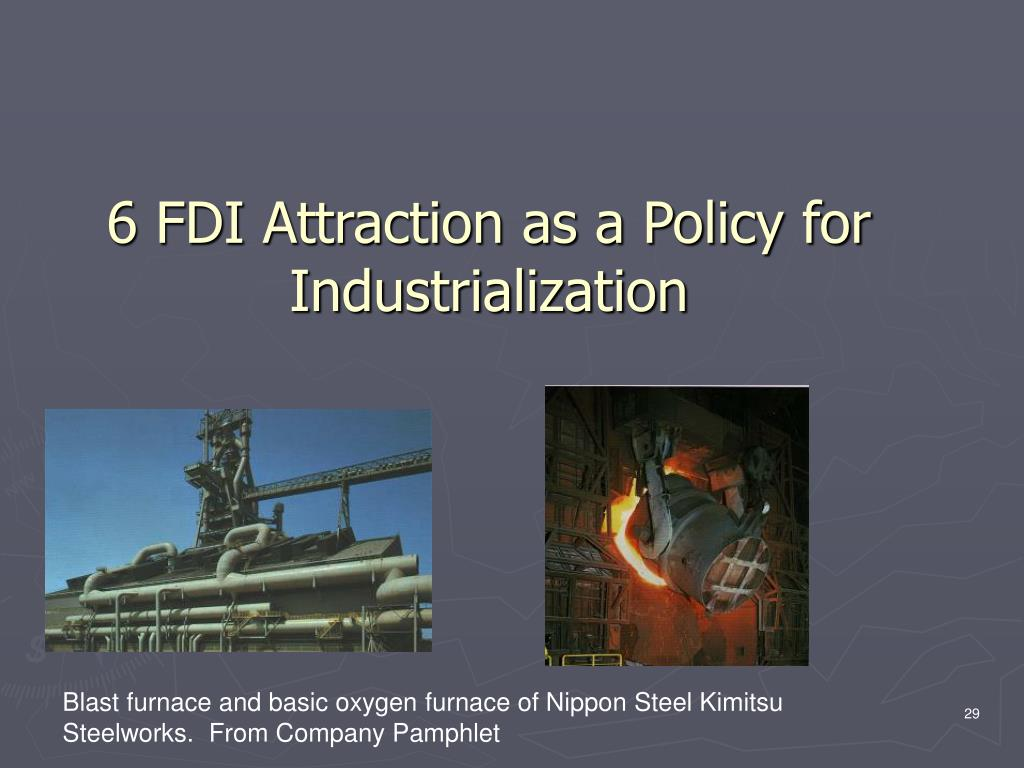 6 FDI Attraction as a Policy for  Industrialization