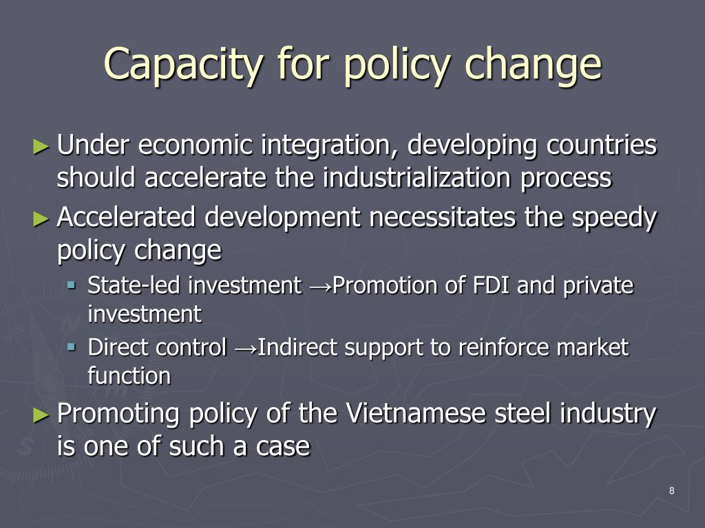 Capacity for policy change