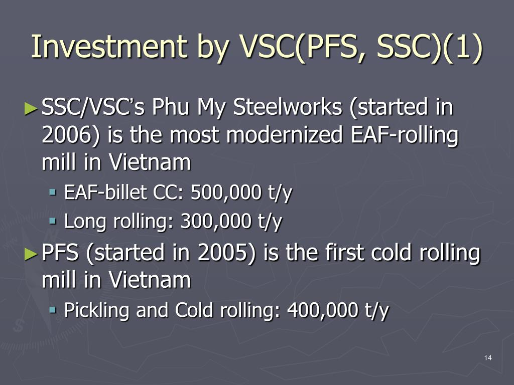Investment by VSC(PFS, SSC)(1)