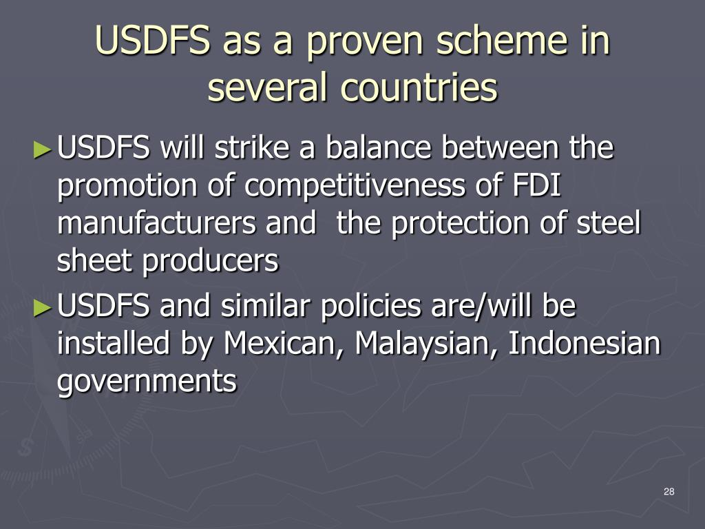 USDFS as a proven scheme in several countries