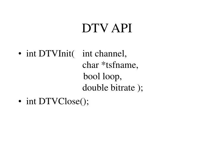 DTV API