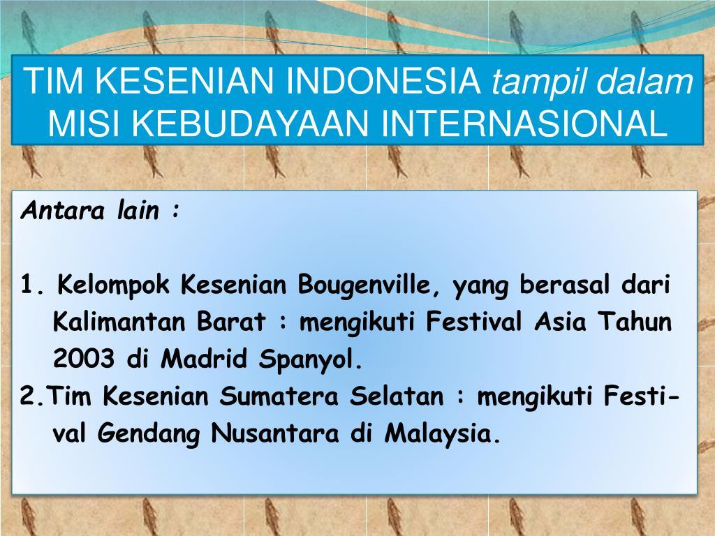 TIM KESENIAN INDONESIA