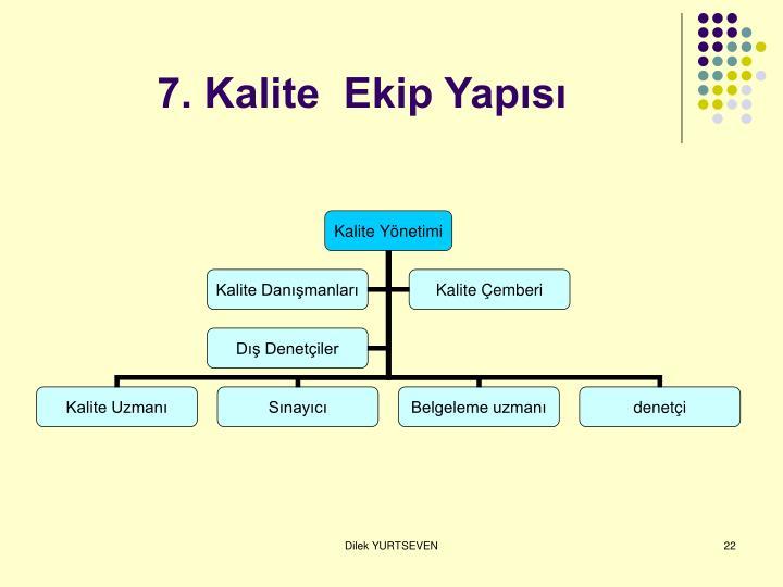 7. Kalite  Ekip Yapısı