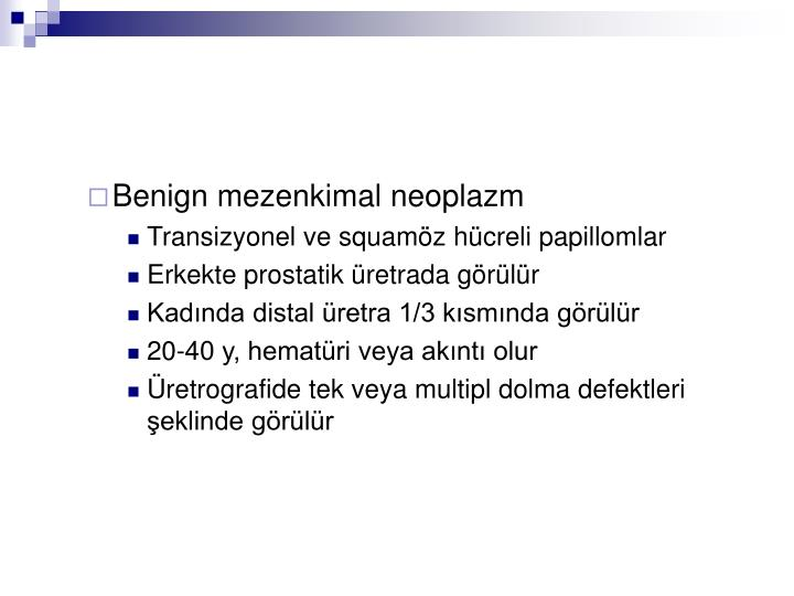 Benign mezenkimal neoplazm