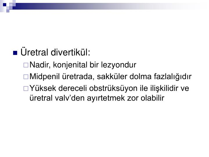 Üretral divertikül: