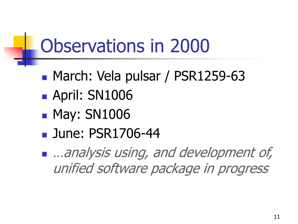 Observations in 2000