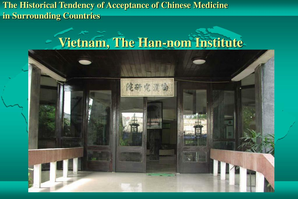 The Historical Tendency of Acceptance of Chinese Medicine