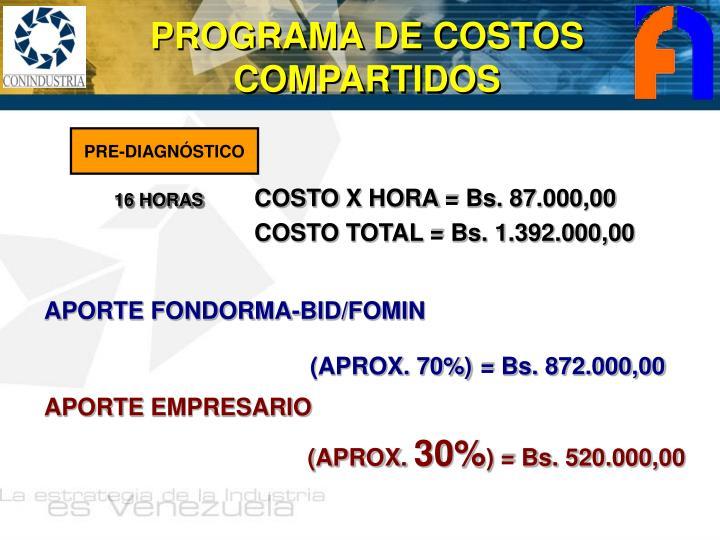 PROGRAMA DE COSTOS COMPARTIDOS