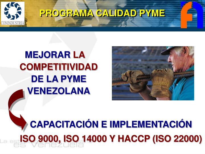 PROGRAMA CALIDAD PYME