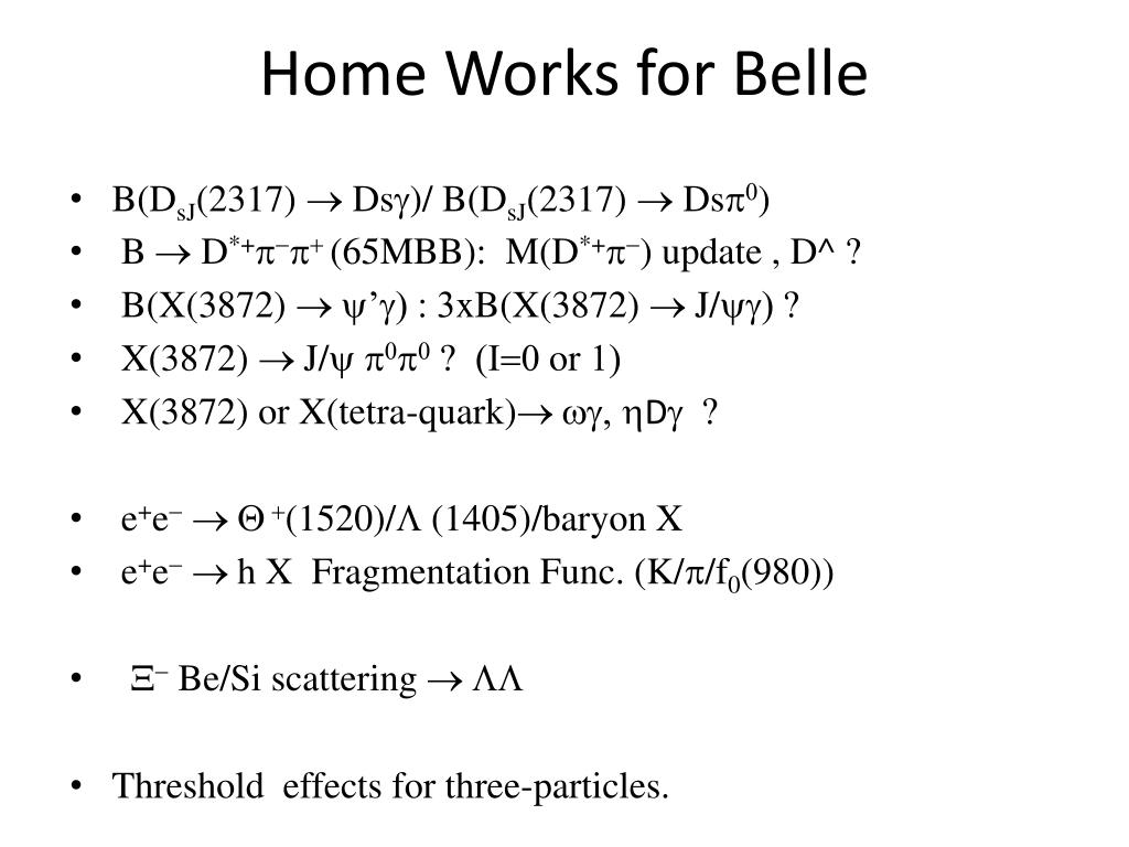 Home Works for Belle