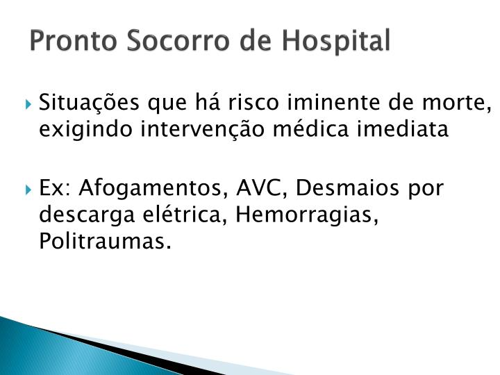 Pronto Socorro de Hospital