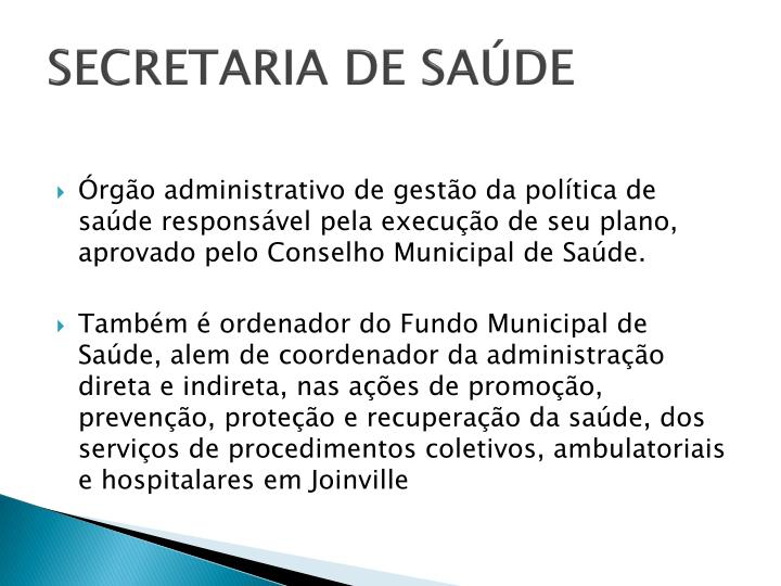 SECRETARIA DE SAÚDE