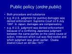 public policy ordre public