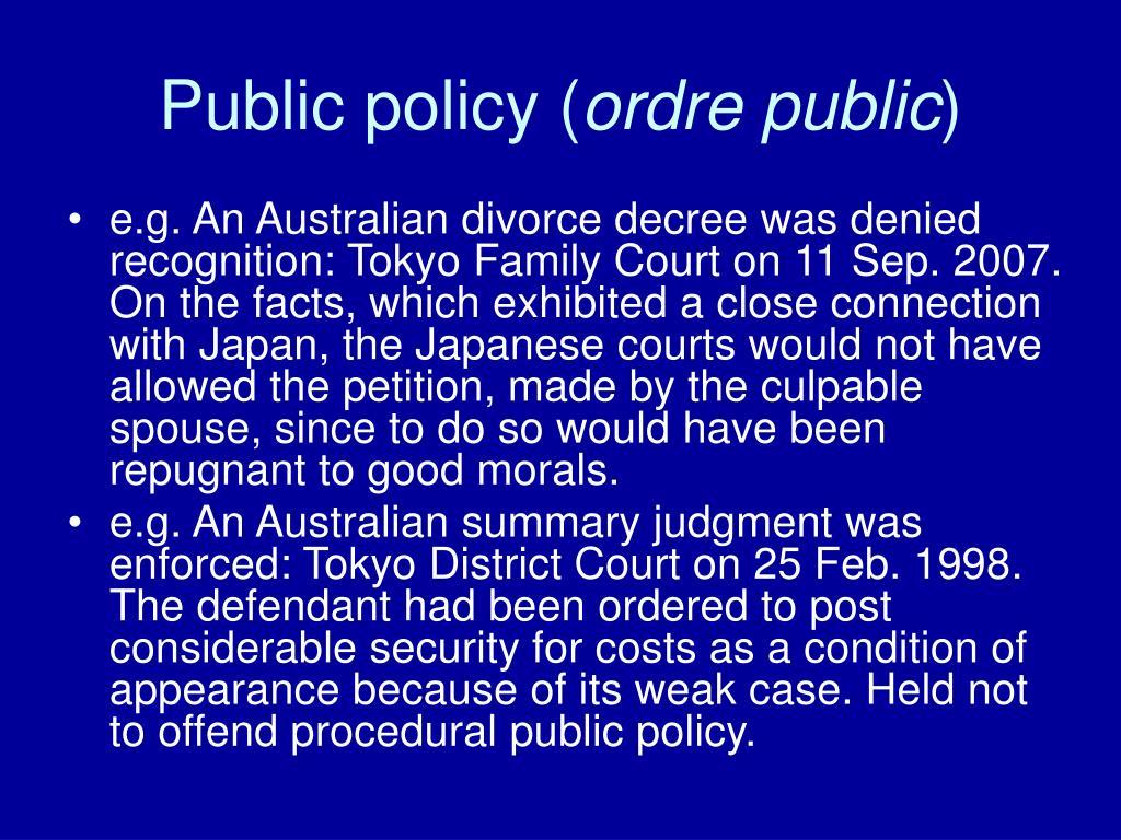 Public policy (