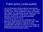 public policy ordre public8